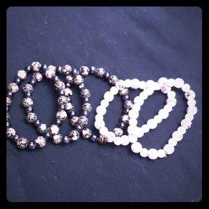 Jewelry  Porcelain bead bracelets